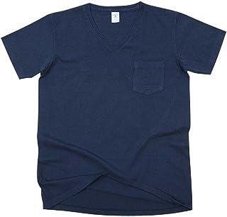 (ベルバシーン) Velva Sheen 2PAC ポケット付きV-Neck Tシャツ NAVY OATMEAL velvasheen-2p-t-v-na-ot