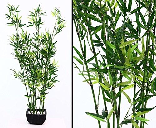 Bambus Kunstbaum in Dekoschale schwarz mit 120cm Höhe - Kunstpflanze