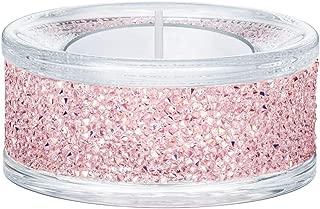 Swarovski Crystal Shimmer Tea Light Candle Holder, Pink 5474276