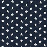 MOORE DENIM Baumwollstoff Marineblau mit weißen Sternen 8