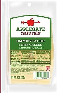 Applegate, Natural Emmentaler Swiss Cheese Slices, 8oz