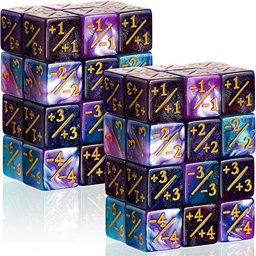 48 Dadi di Contatori Dadi MTG Dadi Gettone Dadi D6 Dadi Contatore Cubo Fedeltà Compatibile con MTG, CCG, Accessorio per Giochi di Carte, 2 Stili