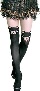 9aea15ca7fa Angelina Womens Animal Pattern Faux Thigh High Pantyhose