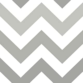 Brewster Home Zig Zag Grey Peel and Stick Wallpaper