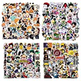 Mixed Anime Stickers, 200 Pcs Popular Classic Anime Stickers for Water Bottles Laptop Stickers Decals for Anime Lovers