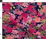 Rosa Rosen, Rosa Und Marineblau, Blumenmuster, Pinke Blumen