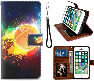 iPhone 7 and 8 [4.7inch] Painted Basketball Wallpapers Wallet Case with Kickstand Durable