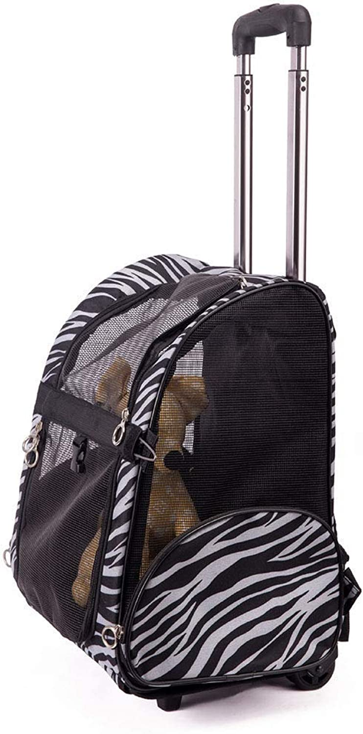 ACLBB Pet trolley case, foldable breathable travel bag, use dog, cat, small animal,36  43  23