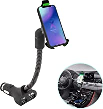 Cell Phone Holder for Car,AIRENA Cell Phone Holder Charger with 4.8A Dual USB for iPhoneXS XS Max XR X 8 7 6s 6 5s Samsung Note 9 8 7 S9 S8 S7 Google Nexus