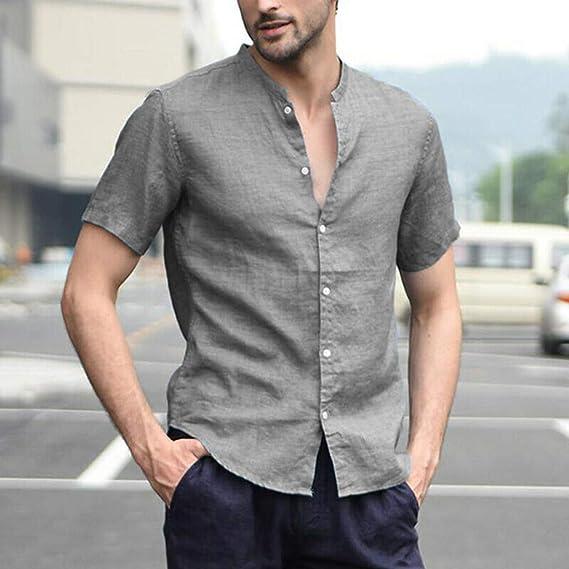 HEETEY – Camiseta de verano para hombre, estilo Baggy, de ...