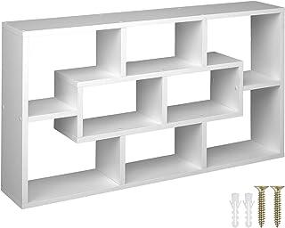 TecTake 800849 Étagère Murale avec 8 Compartiments en Bois MDF Meuble de Rangement pour Salon, Bureau, Chambre, Cuisine – ...