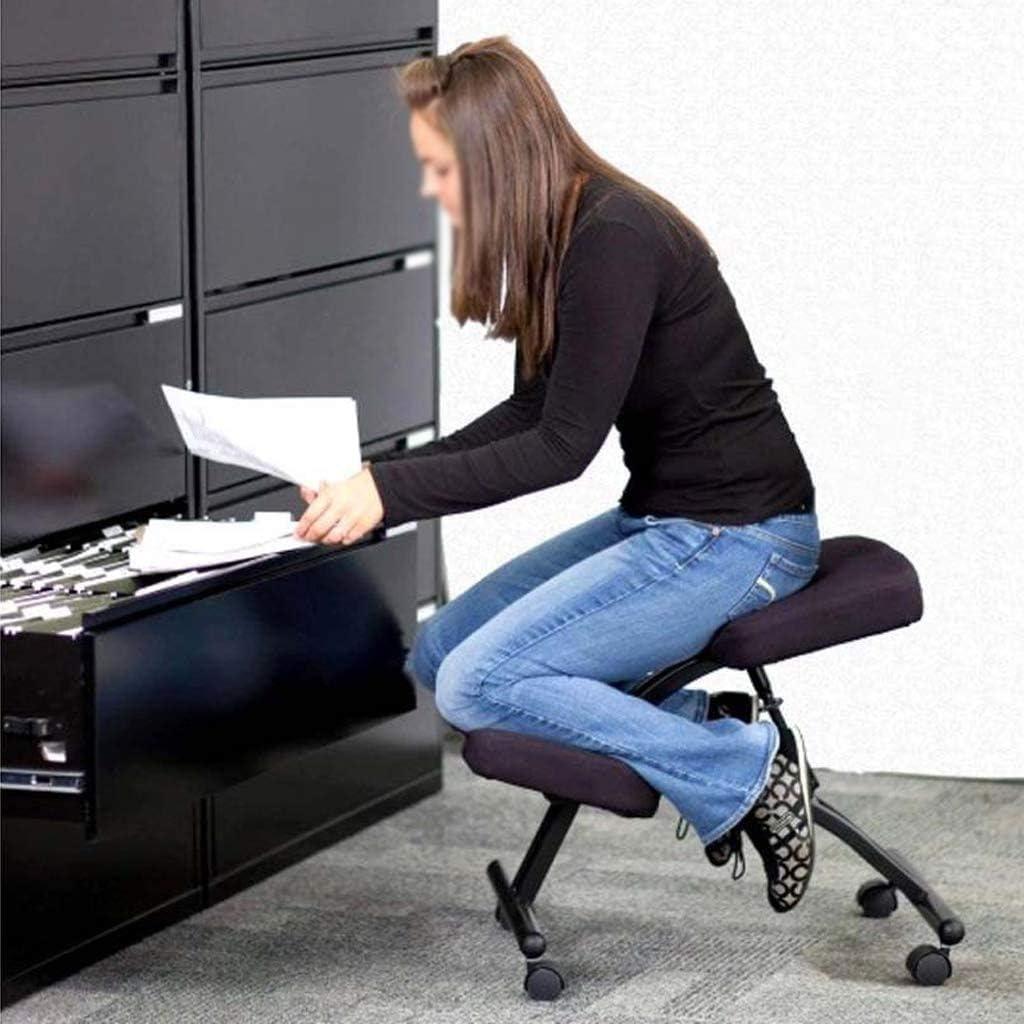 SMLZV Genoux Chaise, ergonomique Genoux Chaise de bureau, réglable Genoux Tabouret épais coussin confortable, Ordinateur Genoux Tabouret, for adultes/enfants (Color : A) C