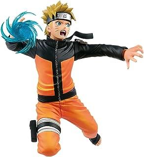 Banpresto Uzumaki Naruto: 17cm Naruto Shippuden x Vibration Stars Statue Figurine & 1 A.C.G. Trading Card Bundle (39418)
