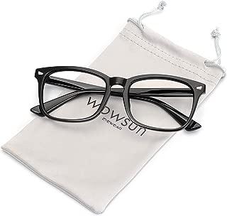 WOWSUN Unisex Stylish Nerd Non-prescription Glasses,Clear Lens Eyeglasses Optical Frames,Fake Glasses