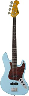 $239 » CNZ Audio JB Electric Bass Guitar - Daphne Blue, Alder Wood Body, Maple Neck & Rosewood Fingerboard