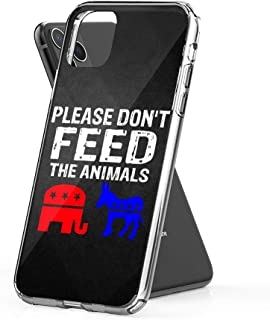 Case Phone Vintage Distressed Please Feed The Animals Libertarian (6.1-inch Diagonal Compatible with iPhone 11)