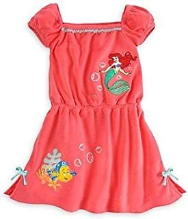 eb5893721d Disney Store Princess The Little Mermaid Ariel Girl Swimsuit Cover Up Size 7 /8