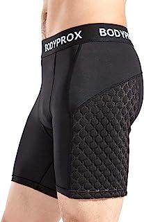 Bodyprox Baseball Sliding Shorts for Men, Compression Padded Slider Shorts