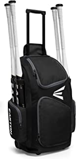 EASTON TRAVELER Bat & Equipment Wheeled Bag | Baseball Softball | 2019 | 4 Bat Sleeves | Vented Gear & Shoe Compartments | 2 Side Zippered Pockets | Telescope Handle | Stands Up | Fence Hook