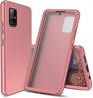 Cbus Wireless Heltäckande silikonfodral med inbyggt skärmskydd för Samsung Galaxy A51 5G (rosa roséguld