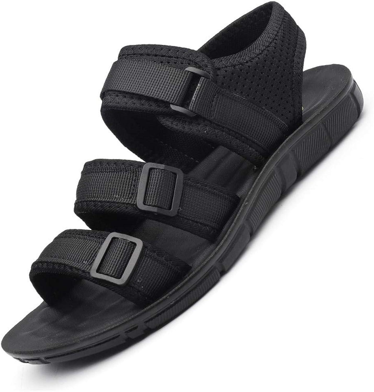 EVLYN Men's Summer Outdoor Beach Adjustable Strap Athletic Sport Sandals