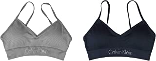 Calvin Klein Ladies' Seamless Bralette, Removable Pads, Signature Logo Band, 2 Pack