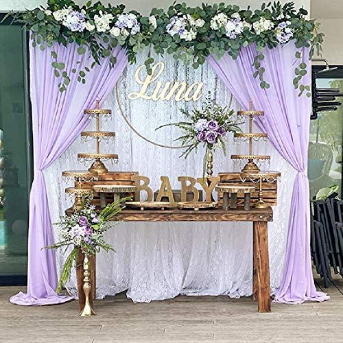 Chiffon Wedding Backdrops 9.8ftx10ft Light Purple Hanging Curtains Party Backdrop Decoration Drape Big Events Background Cloth