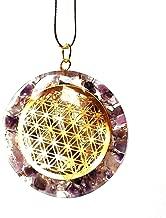 Reiki Energía Carga Orgone de amatista cristal de la flor de la vida colgante
