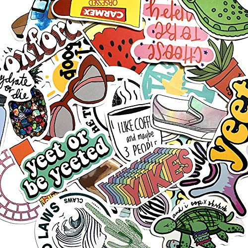Waterproof Stickers For Luggage Laptop Bike Motorcycle Phone Car Case Decal Sticker 50pcs