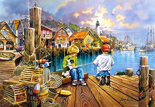 At the Dock Puzzle   Rompecabezas (Puzzle rompecabezas, Arte, Niños y adultos, Niño/niña, 9 año(s), 680 mm) , color/modelo surtido