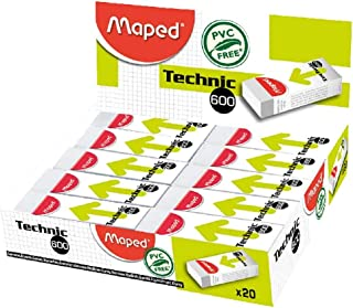 Maped Technic 600 Eraser Box of 20 pieces