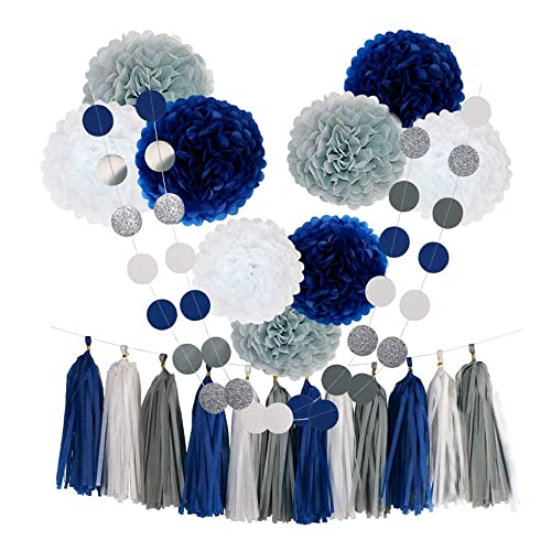 Blue And Silver Party Decorations Amazon Com