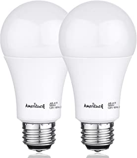 AmeriLuck 100W Equivalent A19 LED Light Bulbs, 15Watts Non-Dimmable 1600LM (3000K | Warm White, 2 Pack)