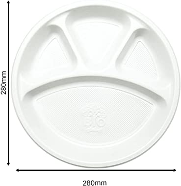 O3 Everyday Pack Dinner Set, 25 Disposable Plates, 25 Spoon|, 50 Cups and 50 Tissue Papers (Pack of 150 pcs)