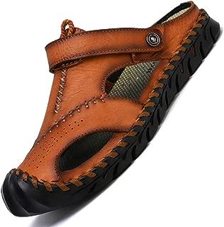 TQGOLD Men's Hiking Dual-use Strap Casual Sandals Summer Beach Shoes Closed Toe Walking Fisherman Anti-Slip Comfortable Casual Fashion