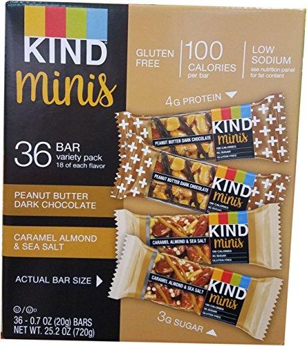 【並行輸入品】Kind Minis, Variety Pack, 0.7 oz.(20g), 36-count カインド ミニ バー バラエティパック