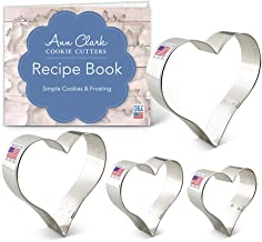 Ann Clark Cookie Cutters 4-Piece Heart Cookie Cutter Set with Recipe Booklet, 2.6