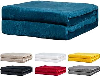 Rendiele Couvertures Polaires- Couvertures Polaires de Flanelle Super Douce - Couvertures de Couleur Unie pour Le lit et L...