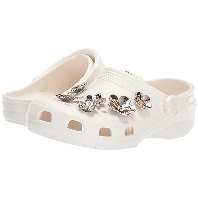 Crocs Classic Radiant Clog (Pearl White/Rose Gold) Clog Shoes