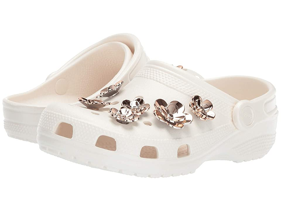 Crocs Classic Radiant Clog (Pearl White/Rose Gold) Clog Shoes