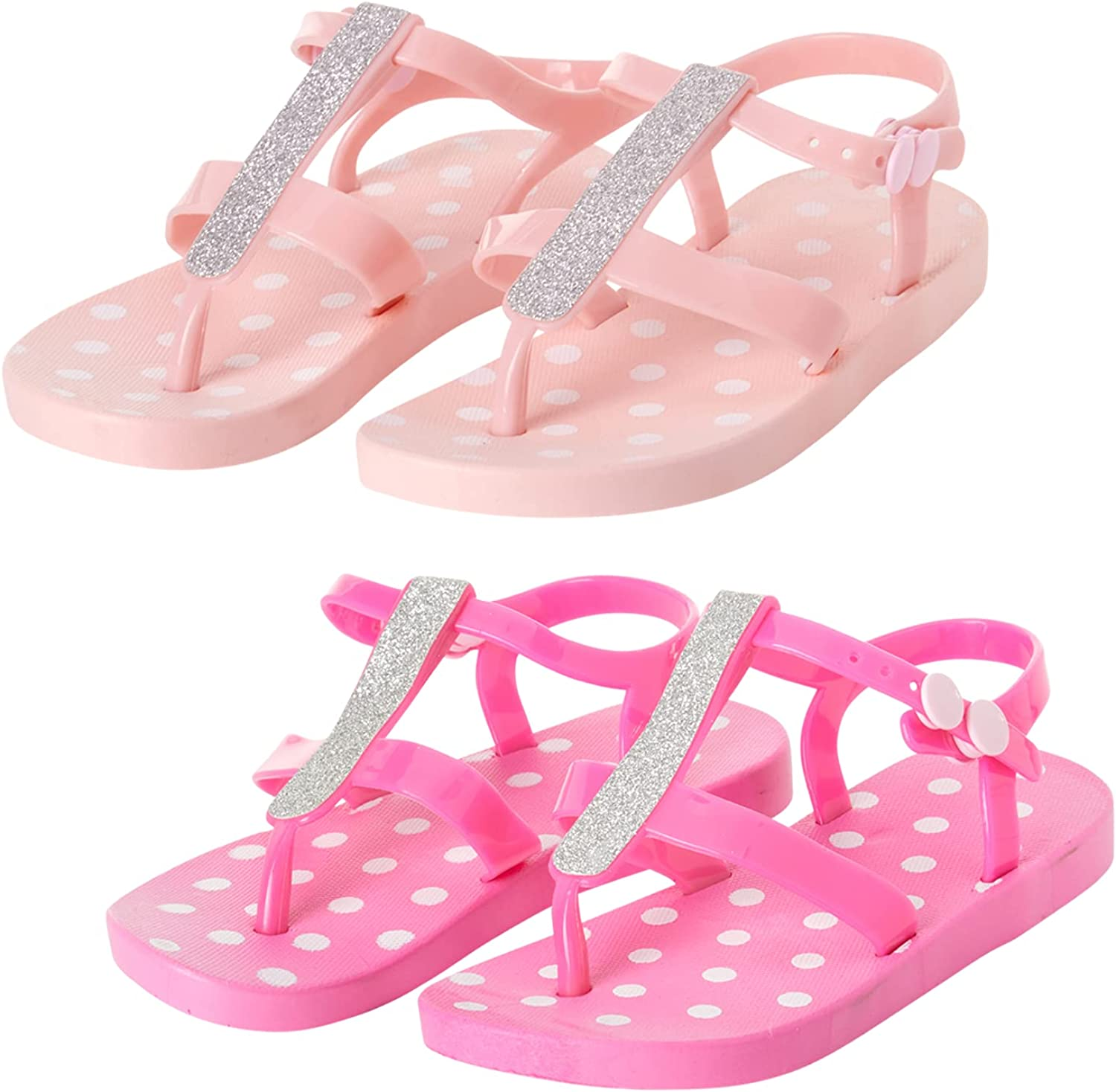 It is very popular dELiAs Girls' Sandals - 2 Rhinestone Buc Thong Pack with San Diego Mall