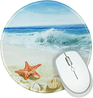 Beautiful Beach Round Mouse Pad Non-Slip Rubber Mouse Mat Professional and Comfortable for Mouse to Slip
