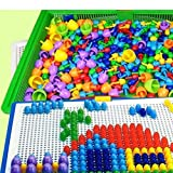296 Setas Piezas Set/Box-empacados Juguetes educativos Cuentas de Grano de uñas Inteligente Consejo de Puzzle en 3D del Rompecabezas para niños de niños