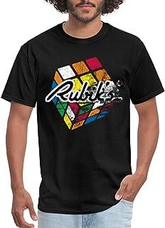 Spreadshirt Rubik's Cube Distressed Cube Men's T-Shirt