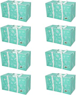 ATBAY Extra Large Moving House Tote Bags,Tiffany Blue 8pack