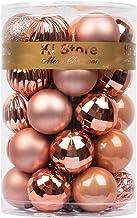 KI Store Christmas Balls Rose Gold 1.57-Inch Small Shatterproof Christmas Tree Ball Ornaments Decorations for Xmas Trees W...