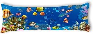 "AILOVYO Sea Creatures Silky Soft Satin Pregnancy Body Pillow Cover Pillowcase, 20"" x 54"""