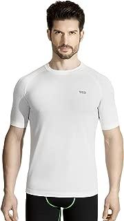 +MD Men's Quick Dry Short Sleeve T-Shirt Lightweight Athletic Active Running Fitness Shirt
