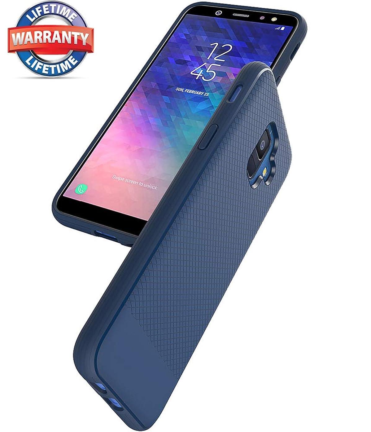 Galaxy A6 Case, Samsung Galaxy A6 Case, Asmart Resilient Shock Absorption Galaxy A6 Phone Case Slim TPU Bumper Cover Flexible Protective Phone Case for Samsung Galaxy A6 2018 (Blue)
