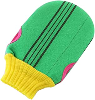 Soft Body Cleaning Bath Gloves Towels Bath Exfoliating Mitts 1 piece, GREEN